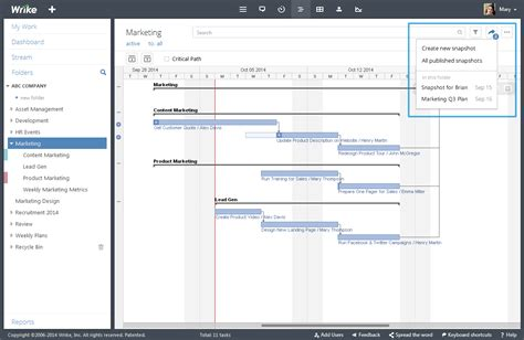 wrike templates timeline snapshot project plans and status with anyone