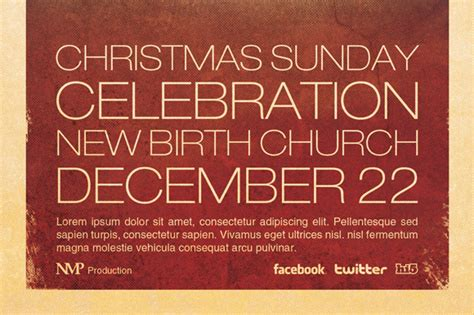 Nativity Church Flyer Template Flyer Templates On Creative Market Nativity Flyer Template