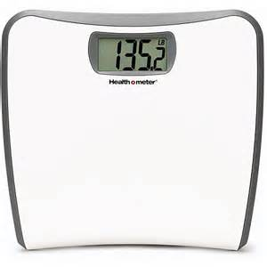 healthometer white slim profile lcd digital bath scale