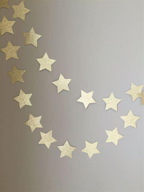 Twinkle Twinkle Little Star Gold Glitter Star Garland