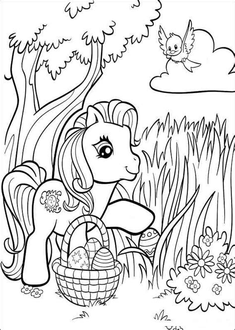 My Pony Easter Coloring Pages image my pony easter coloring pages