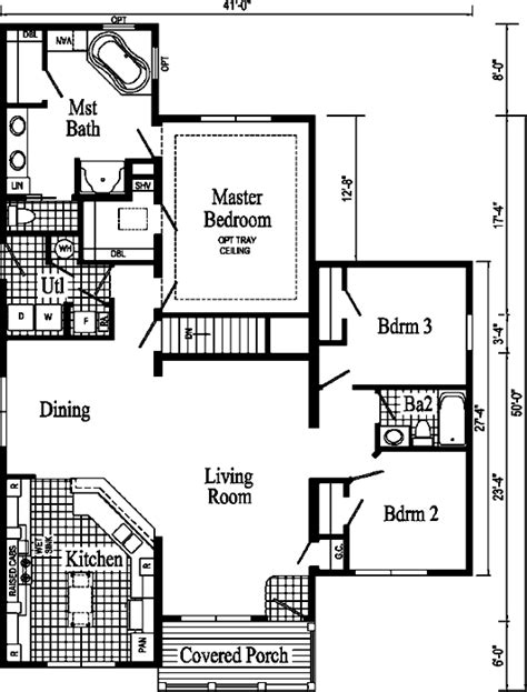 covington floor plan covington ranch style modular home end elevation style