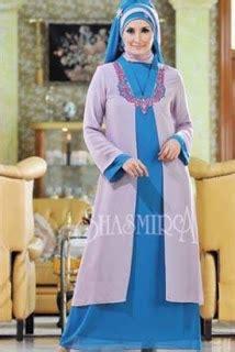 desain gamis umi pipik 22 contoh model baju gamis dan blazer muslim bahan sifon