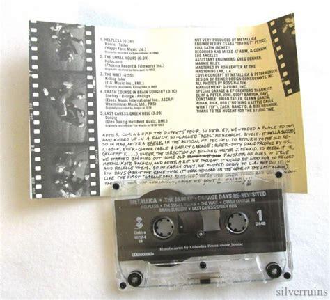 dust determination a history of uconn polo books metallica garage days revisited cassette 80 s thrash
