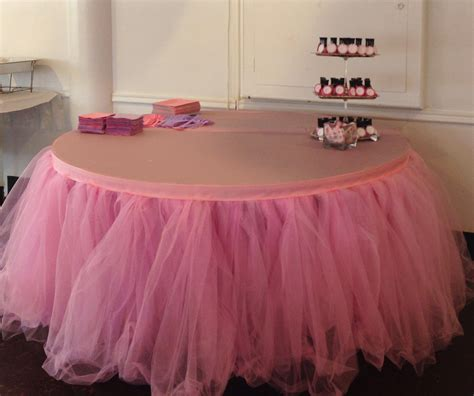 custom tulle tutu table skirt wedding birthday baby shower