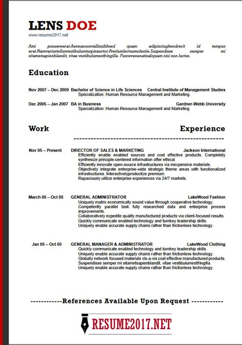 Resume Format 2018 16 Latest Templates In Word Resume 2018 Template