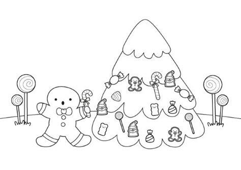 dibujos de arbol de navidad para colorear e imprimir hombre de jengibre y 225 rbol de navidad dibujo para