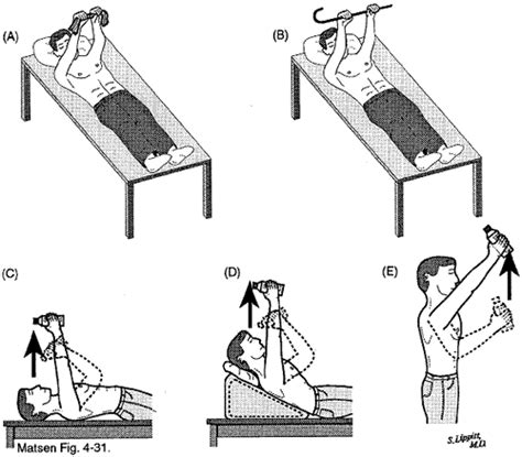 home exercises for the unstable shoulder uw orthopaedics