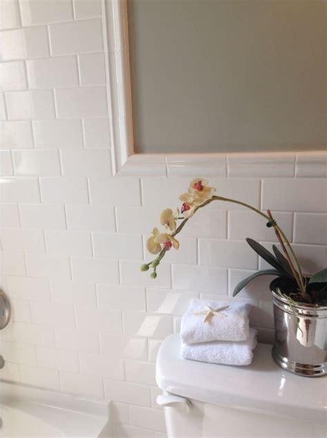 chair rail subway tiles  bath vertical google search shower tile designs subway tile