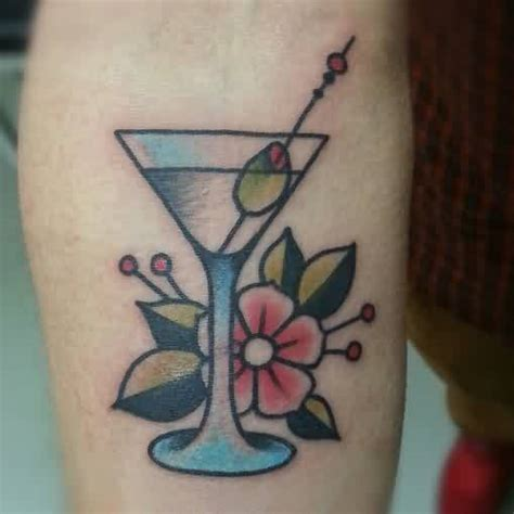 cocktail tattoo designs 60 glass tattoos and ideas