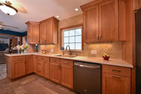 natural cherry kitchen cabinets natural cherry cabinets awesome kitchen remodel by