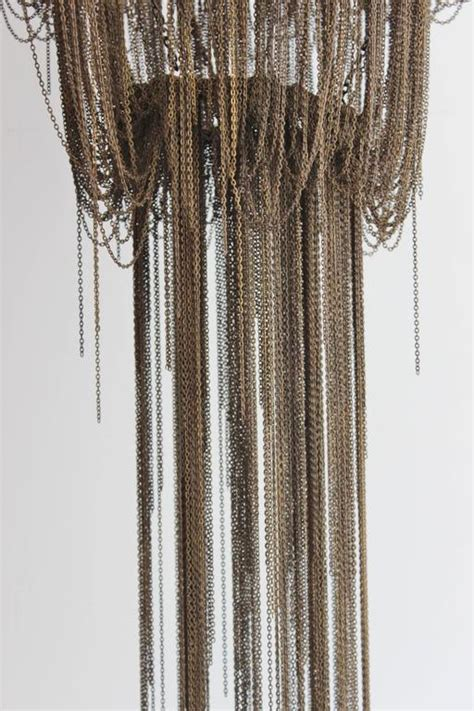 bronze chandelier chain bronze finish swagged chain chandelier for sale at 1stdibs