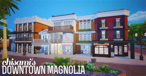 House Bookstore by Magnolia Downtown At Chisami 187 Sims 4 Updates