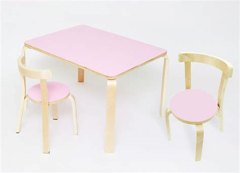 pink table and chairs toddler melamine top desk 2 chairs prd furniture