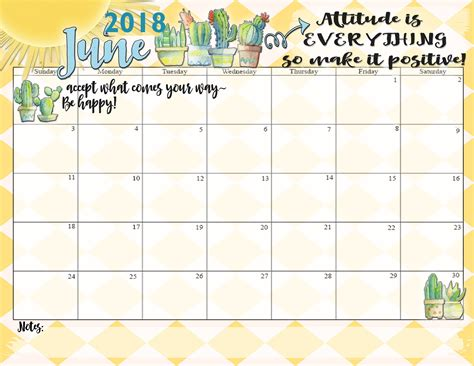 printable calendar 2018 with quotes motivational june 2018 calendar printable calendar 2018