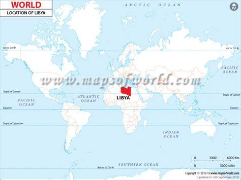 libya on the world map where is libya location of libya