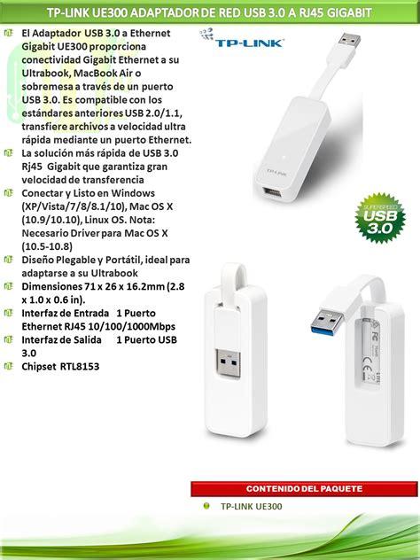 Diskon Tp Link Ue300 Usb To Lan Rj45 Ethernet Gigabit Usb 3 0 1 tp link ue300 adaptador usb 3 0 a rj45 mtec