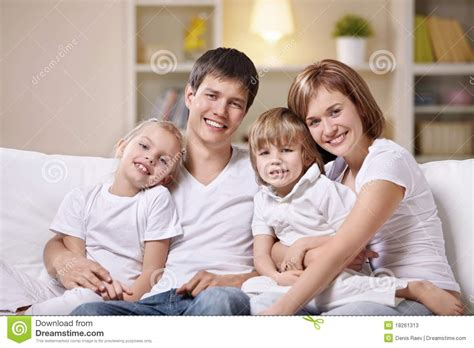 family at home stock photos image 18261313