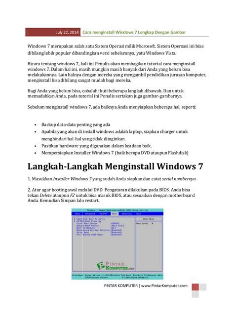 format gambar bawaan sistem operasi windows cara install windows 7 lengkap dengan gambar