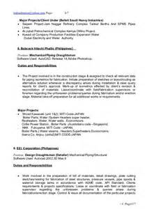 Autoplant Piping Designer Sle Resume by Piping Superintendent Resume Sles Bestsellerbookdb