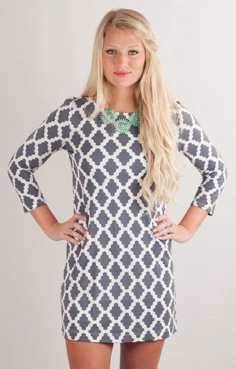 Grey Sweety Dress so soft so sweet hourglass lilly grey and white tunic dress is a classic approach to the
