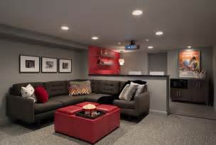 Paint Colors For Media Room - washington project modern basement other by haddad hakansson design studio