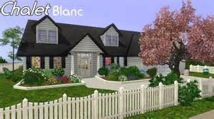 Sims 3 House   Building Chalet Blanc in Sims 3   YouTube