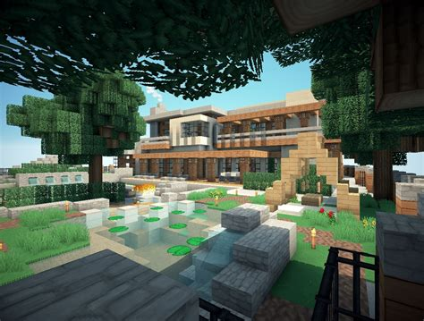 mansion backyard mansion minecraft project