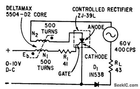 saturable reactor circuit saturable reactor timer electrical equipment circuit circuit diagram seekic