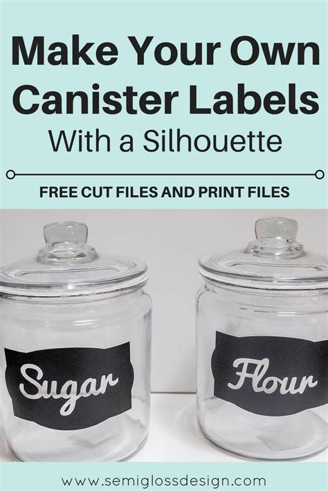 kitchen canister labels dayri me diy canister labels with a silhouette with free cut files