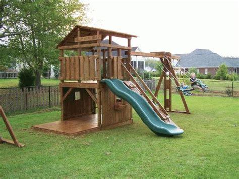Backyard Swing Plans by Best 20 Wooden Playset Ideas On Pinterest