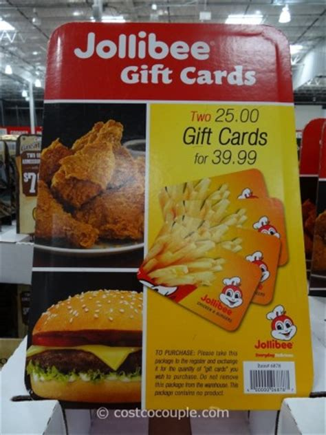 Costco Discount Gift Cards - jollibee discount gift card
