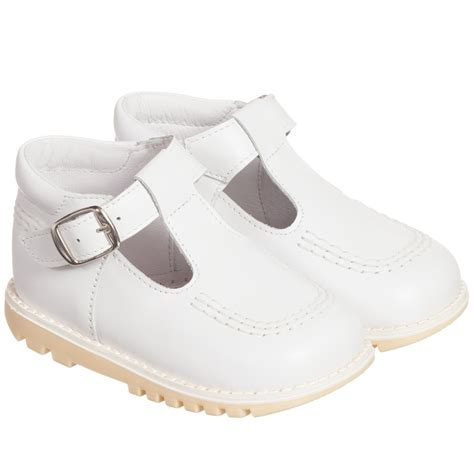 s t shoes children s classics white leather t bar shoes