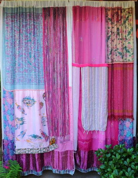 cortinas hippies rock the casbah handmade gypsy curtains bohemian global
