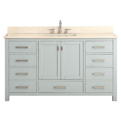 61 in vanity tops with sinks shop avanity modero chilled gray undermount single
