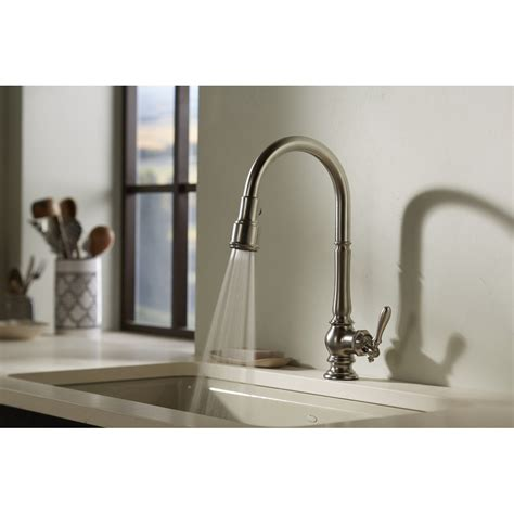 kohler kitchen sink faucets kohler k 99259 artifacts single hole kitchen sink faucet