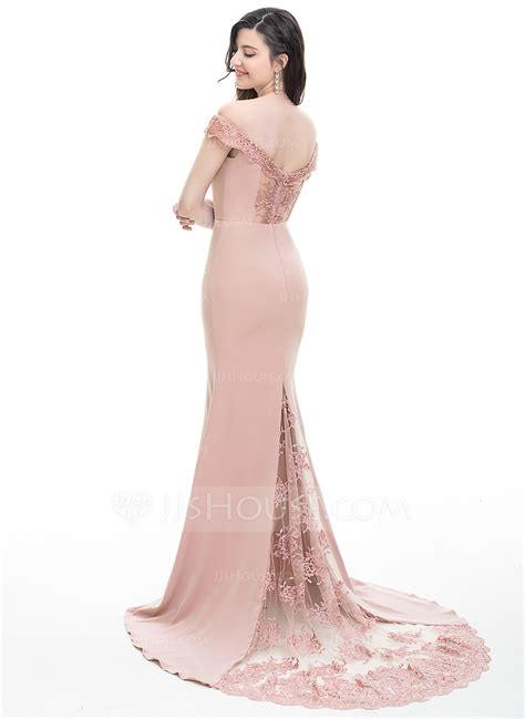 Shoulder Mermaid Dress trumpet mermaid the shoulder court satin prom