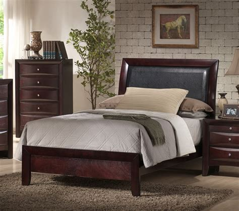 emily bedroom set emily sleigh bedroom set rich espresso finish em200tb