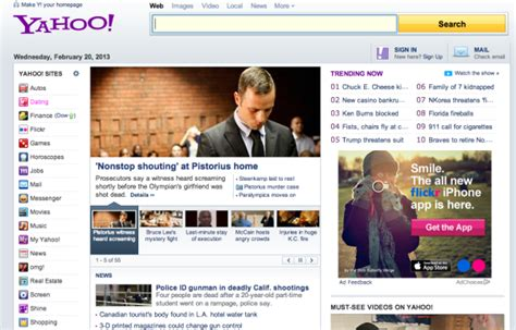 more quot modern quot yahoo homepage starts to roll out