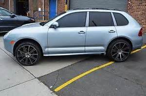 Porsche 22 Inch Rims 4 Gwg Wheels 22 Inch Staggered Black Machined Flow Rims
