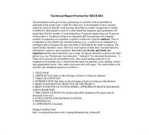 technical report template technical report template 8 free word pdf documents