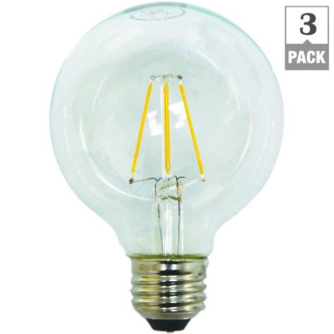 home depot ecosmart led lights ecosmart 40w equivalent white g25 dimmable filament