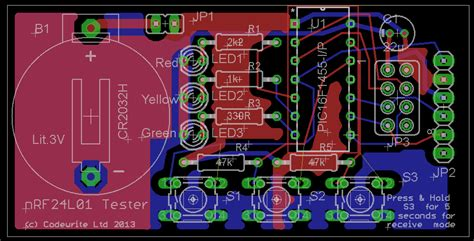 Pcb Design Layout Job Uk | nrf24l01 test board pcb pic tutorials