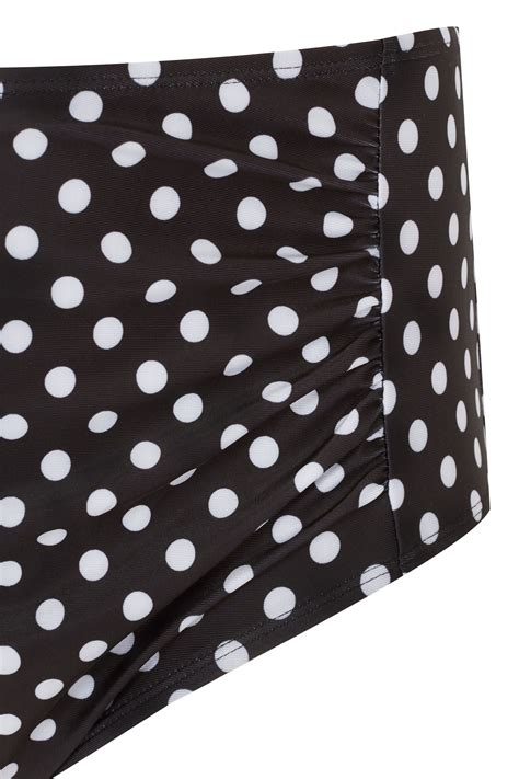 dot js template black white polka dot ruched briefs plus size 16