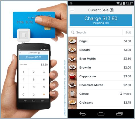 square app for android square launches register a free pos app for ios and android top apps
