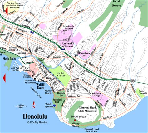 printable map honolulu road map of waikiki honolulu hawaii aaccessmaps com