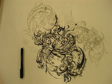 filigree tattoo design i would eventually to get a of all just
