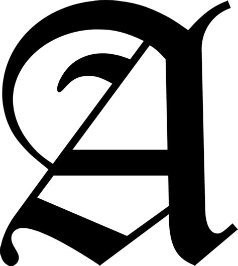 Initial Wall Stickers old english letter a initial decal 3 75 quot choose color ebay