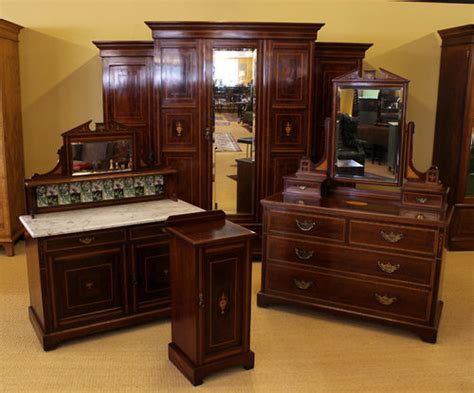 Edwardian Bedroom Furniture by Edwardian Mahogany Bedroom Suite C 1910 Antiques Atlas