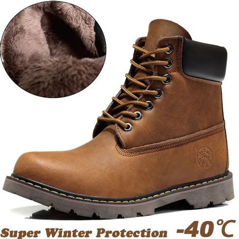 mens winter leather boots free shipping selling warm s winter boots100